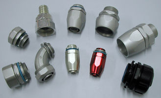 ประเทศจีน CNC Bending Durable Electrical Conduit Fittings Anodizing / Black Oxide ผู้ผลิต